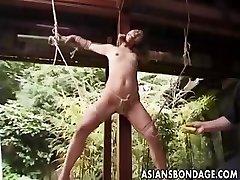 Japansk Bondage utendørs (usensurert)