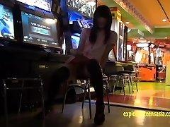 jav tonåring reina tsukimoto retar flicka i kini sedan blinkar i allmänna riktigt söt amatör i sin debut film