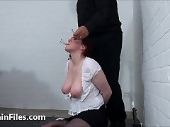 Face punished mature ### Chinas dental gagged sadomasochist torments and abasing gaping pussy pain of old submissi