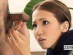 Subtiitritega CFNM Jaapani veider grupp peenise kontroll