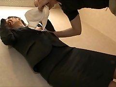 tveksam office lady att slicka