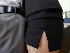 utrolig japansk jente shizuka kanno i hotteste sekretær, ansikts-jav klippet
