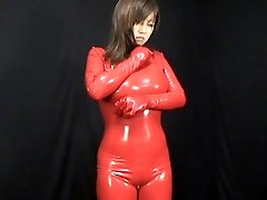 japoneze latex catsuit 59
