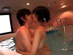 Supercute Chinese teen Ruri humped in the indoor pool
