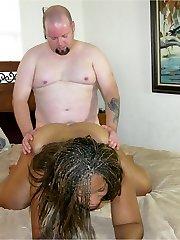 Dark-hued Fat Damsel Models Nude And Gets Creampied