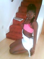 Naughty black bitches posing sexy in selfpics