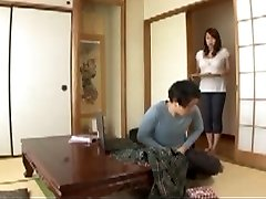 Japanese Mommy in law in Step Sons Wet Dream