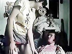 Vintage Poilu Français De La adolescent Fille A Des Relations Sexuelles
