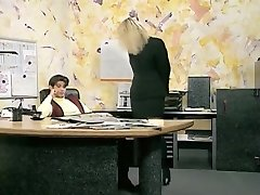 Incredible amateur Office, Stockings fucky-fucky clip
