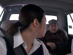 Super-naughty Japanese chick Nao Mizuki, Hikari Hino in Horny Car, Pussy Eating JAV flick