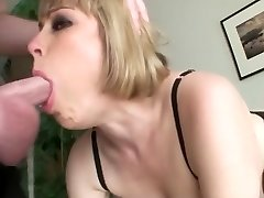 Chesty blonde an messy throat face fuck swallow