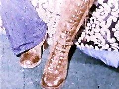 Linda Lovelace 8mm en Boucle Ouverte de la chatte, insérez le pied!