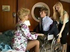 Sharon Mitchell, Jay Pierce, Marco in antique orgy scene