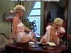 Fuckpole worshipped by retro busty girl