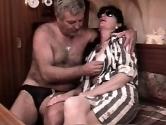 Vintage French hookup movie with a mature hairy couple