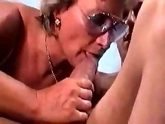 German Granny Smashes And Gargles Her Boy