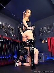 Youthfull Dominatrixes Sex Slave