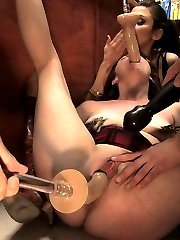 Lilla Kat is bound and helpless in the hardware store while a group of men fuck her with dildos attached to plungers. Her tits are fondled, and her pussy made to cum, all by complete strangers in a public place! Unfortunately the A-cam footage on this shoot was corrupt, so we can only show you the first part of the shoot, which really sucks, because it just got better and better after this first part. This is a Monday BONUS.