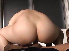 Rin Ogawa Asian doll gets hot cock ride JpTeacher.com