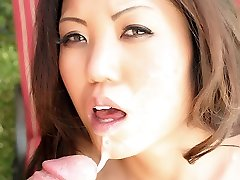 Oriental sweetie Kaiya Lynn goes down to suck a cock and gets her pussy licked and boned