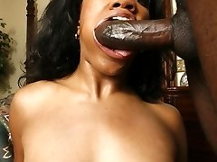 Pornographic Star Stacey Currency flaunts her phat black ass then goes to work sucking and fucking