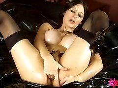 Watch this awesome shemale as she fingers her asshole