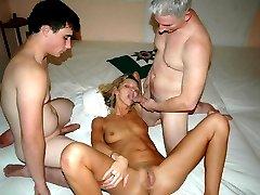 Cum loving sluts in MMF 3some pictures