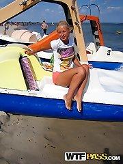 Alluring blonde gf having joy on a beach - PrivateSexTapes.com