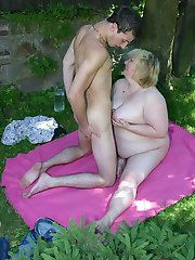 Chubby mature temptress gets Dutch-fucked