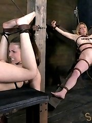 Casey Calvert's new favorite way to get her throat fucked hard and deep is upside down. Impaled on a dildo and her breasts bound are also musts. We get a reward for making sure that everything is up to snuff. It isn't everyday that we get to see a girl squirt but everything we do to Casey has her just about ready to burst. We tie her down and finger blast her until she can't take anymore.