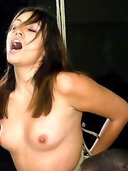 The Casting Couch series is a great way to find possible new talent for Hogtied. We get so many applications from beautiful, sexy woman & we can only choose a few to do full shoots with.  All of the CC girls are one of the following, some are all at once; New to BDSM, new to bondage, new to porn and ALL are new to Kink.com. Since they are untested we give them a small taste of what our shoots are like to see how they react. Some will make it, others, maybe not. This is YOUR chance as a member to help us choose new girls to shoot. Thea is an LA porn star & stripper.  Sexy, perky, hot & with a killer ass.  She had never been tied up before she came in for her audition so I gave her a small sample of what it is like. She ws actually a bit nervous and smiled the whole time.