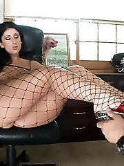 Luscious Lopez gets her stockinged feet worshipped and gets her oozing with humidity in this flick
