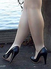Adorable long-legged Lauryn makes your shoe fetish rise up until your high heel juices flow