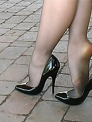 Iona makes you respond to your own personal fetish for ladies heels, so you can enjoy her in many of her shoes including these! A shoe which she loves so much that she just had to wear them on this occasion