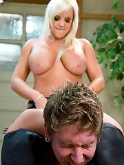 Alexis towers over her groveling man-meat in a made-to-order man-eating porn flick for your discerning palate.