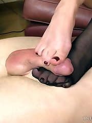 Stocking Worship Feet Wank