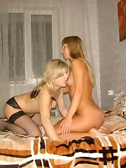 Lesbo lovers play with each others pussies