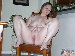 Amateur Tattooed BBW Big Breasted Model - Meredith