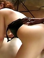 Hairy mature gets her asshole rammed with a black dick then gets facialized