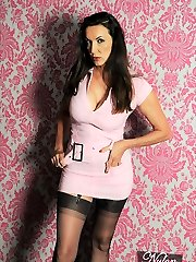 Nylon Jane has a very girly side and periodically a super-cute pink outfit gives her the right feeling that she needs! Clearly the garment is ended off with entirely fashioned tights though