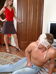 Nylon-crazy neighbor ready for everything craving to fuck a stockinged chick