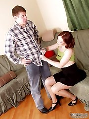 Hottie aching from pain of pleasure while getting her nyloned pink licked