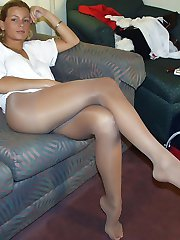 Amateur girls in pantyhose