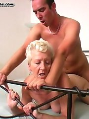 This mature blonde bitch really rocks the cock