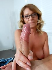 Better Jism Quick - MILF and Mature Handjob Videos Over 40 Handjobs