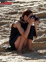 Upskirt amateurs get on the spy web cam