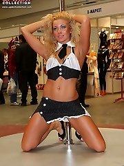 Erotic backsides peeping up the skirts