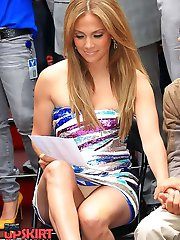 J Lo hot upskirt