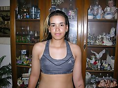 Puerto Rican Amateur Modeling At First Homemade Nude Modeling Shoot - Sam Model