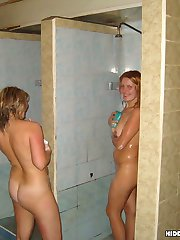 Watch the adult entertainment of amateur beautoes in sauna. Naked and sweaty they can�t be turn into vicious creatures longing to seduce every fucking male around. They are good at it!